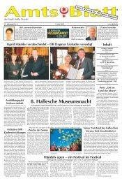 Amtsblatt 09 vom 09.05.2007 - Stadt Halle, Saale