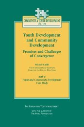 Youth Development and Community Development