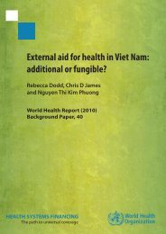 External aid for health in Viet Nam - World Health Organization