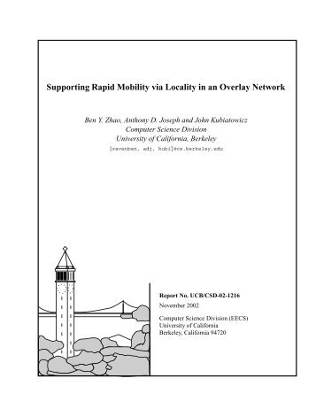 Supporting Rapid Mobility via Locality in an Overlay Network