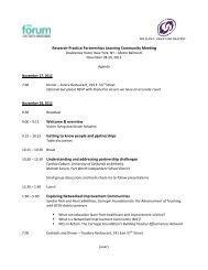 Agenda, Participant List, Bios and Partnership Summaries - The ...