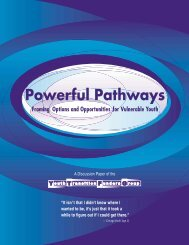 Powerful Pathways - The Forum for Youth Investment