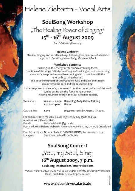 16th August 2009 - helene ziebarth - vocal arts