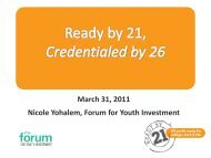 Nicole Yohalem Forum for Youth Investment