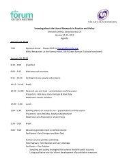Agenda, participant list, participant bios and project summaries ...