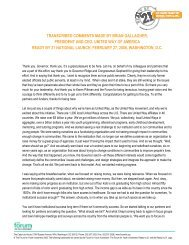TRANSCRIBED COMMENTS MADE BY BRIAN GALLAGHER, PRESIDENT AND CEO ...