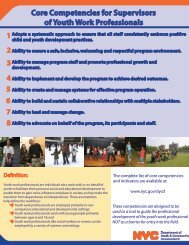 Supervisor Core Competencies - The Forum for Youth Investment