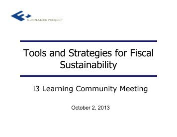 Tools and Strategies for Fiscal Sustainability