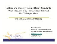 College and Career-Training Ready Standards