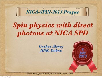 Direct photons - NICA - JINR