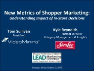 New Metrics of Shopper Marketing