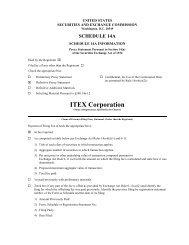 ITEX Corporation
