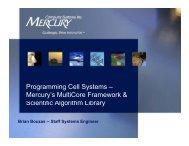MultiCore Framework (MCF) for Cell/B.E.