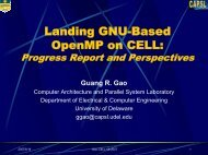 Landing GNU-Based OpenMP on Cell/B.E.: Experience and ...