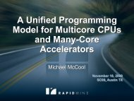 A Unified Programming Model for Multicore CPUs and Many-Core Accelerators