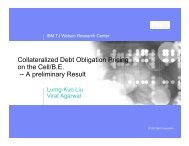 Collateralized Debt Obligation Pricing on the Cell/B.E -- A preliminary Result