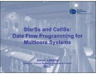 StarSs and CellSs Data Flow Programming for Multicore Systems