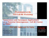 Presentation at the STI Cell BE Workshop
