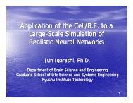 Application of the Cell/BE to a LS l Si l ti f S l Si l ti f Large-Scale ...