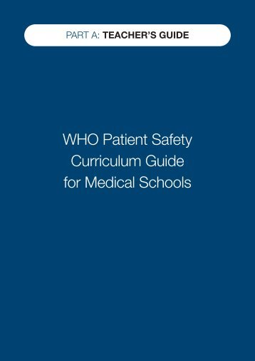 Who Safety Curriculum - World Health Organization