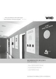 BILDPREISLISTE 2012/2013 · MULTIROOMSYSTEME - WHD