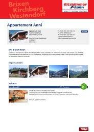 Appartement Anni