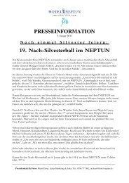 presseinformation - Hotel Neptun