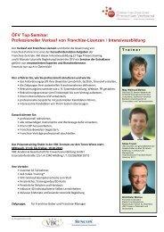 Professioneller Verkauf von Franchise-Lizenzen \ Intensivausbildung