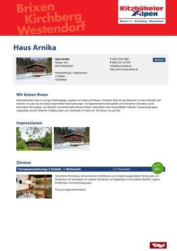 Haus Arnika - Brixental