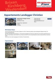 Appartements Landegger Christian