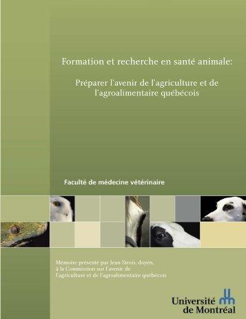 Formation et recherche en santé animale