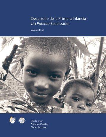 Desarrollo de la Primera Infancia : Un Potente Ecualizador