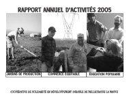 RAPPORT ANNUEL D'ACTIVITÉS 2005