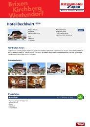 Hotel Bechlwirt *** - Brixental