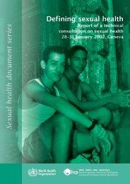 Defining sexual health - World Health Organization