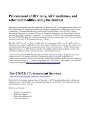IDA ARV Procurement Services BV - World Health Organization