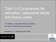 activation radioactive decay and fission yields