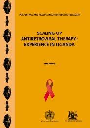 Scaling up antiretroviral therapy - World Health Organization