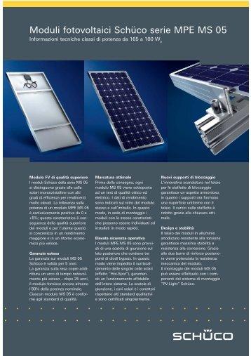 Moduli fotovoltaici Schüco serie MPE MS 05