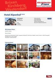 Hotel Alpenhof *** - Kirchberg