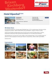 Hotel Alpenhof *** - Brixental