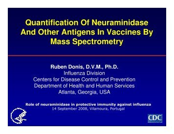 Quantification Of Neuraminidase And Other Antigens In Vaccines By ...