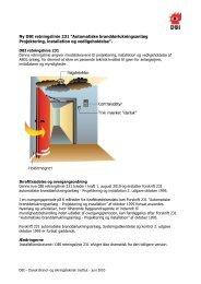 Ny DBI retningslinie 231 - Dansk Brand- og sikringsteknisk Institut