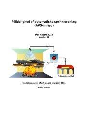 Pålidelighed af automatiske sprinkleranlæg (AVS-anlæg)