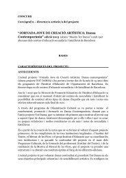 """""""JORNADA JOVE DE CREACIÓ ARTÍSTICA Dansa Contemporània"""""""