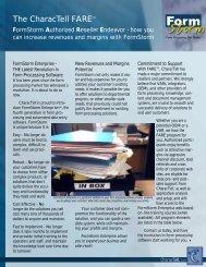 FARE information sheet - CharacTell Ltd.