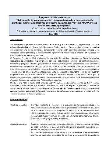 """Programa detallado del curso """"El desarrollo de las ... - etsEQ"""