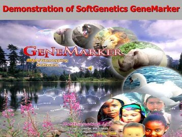 Demonstration of SoftGenetics GeneMarker