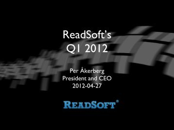 Facts about ReadSoft