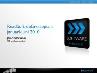 ReadSoft delårsrapport januari-juni 2010